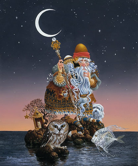 James Christensen The man Who Minds The Moon