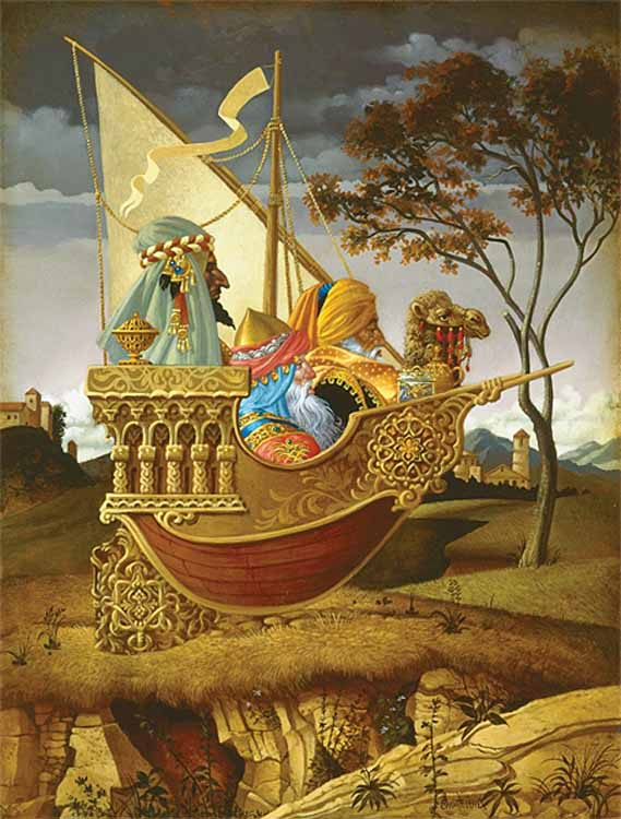 James Christensen Three Wise Men In a Boat