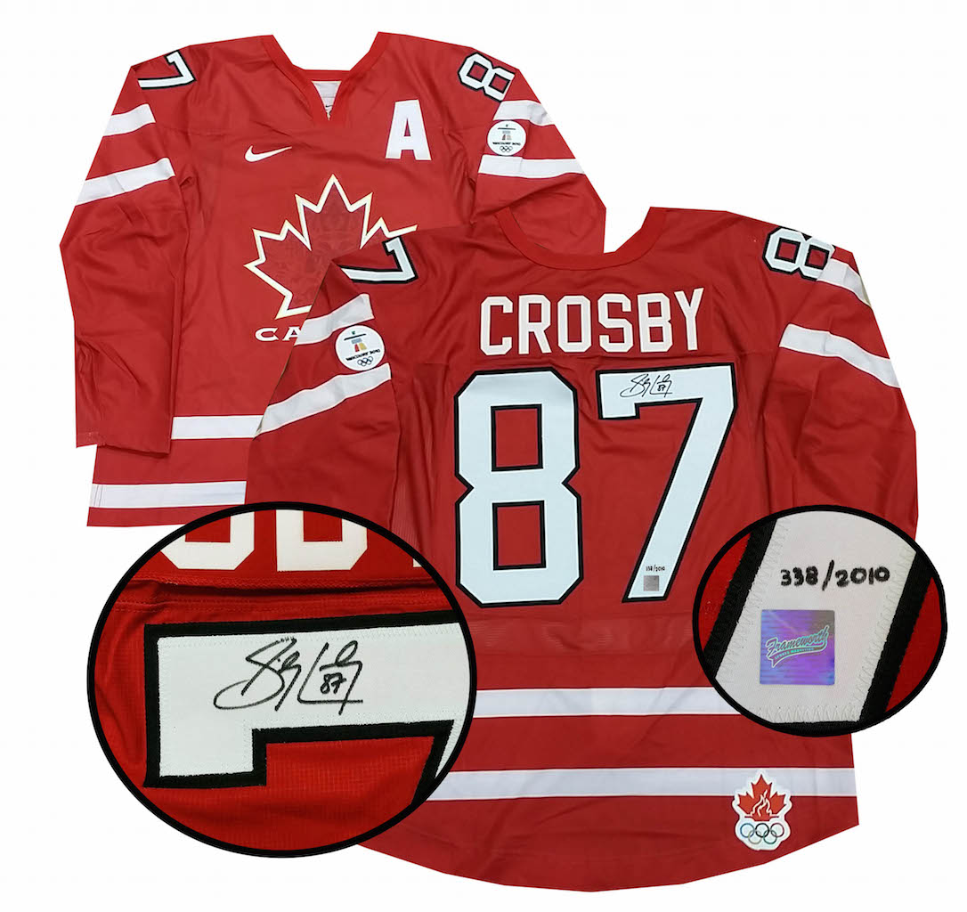 Sidney Crosby Team Canada Signed Jersey Red