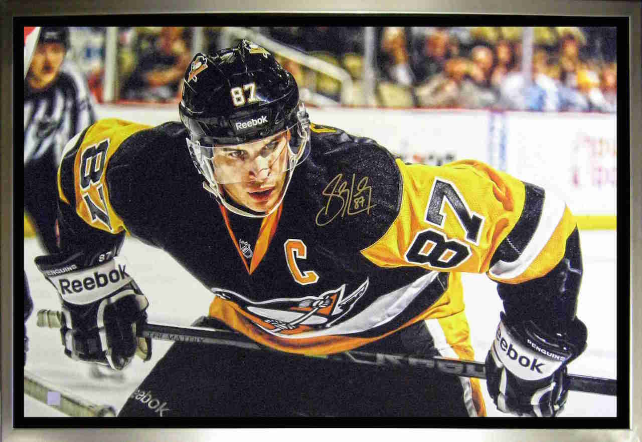 Sidney Crosby Pittsburgh Penguins Signed Canvas