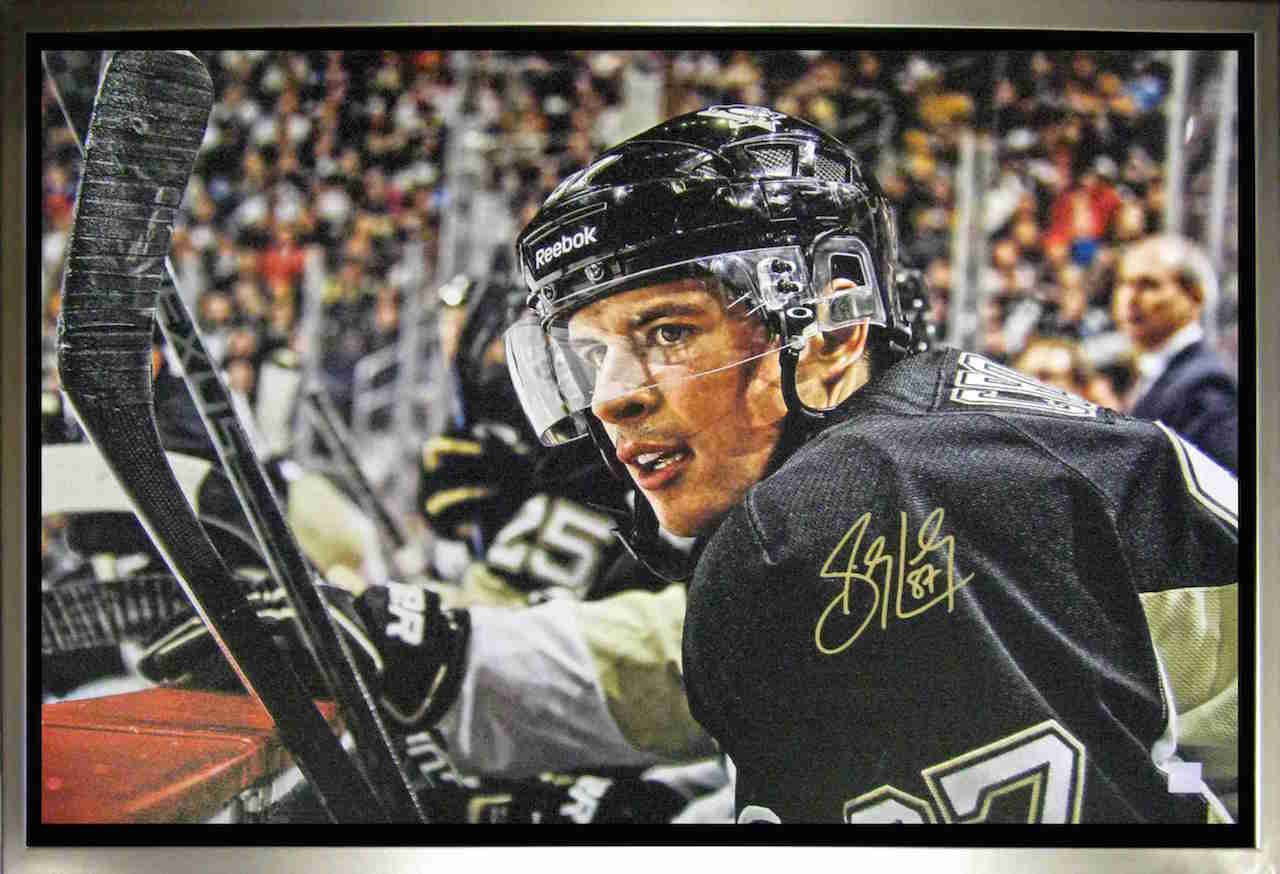 Sidney Crosby Pittsburgh Penguins on Bench