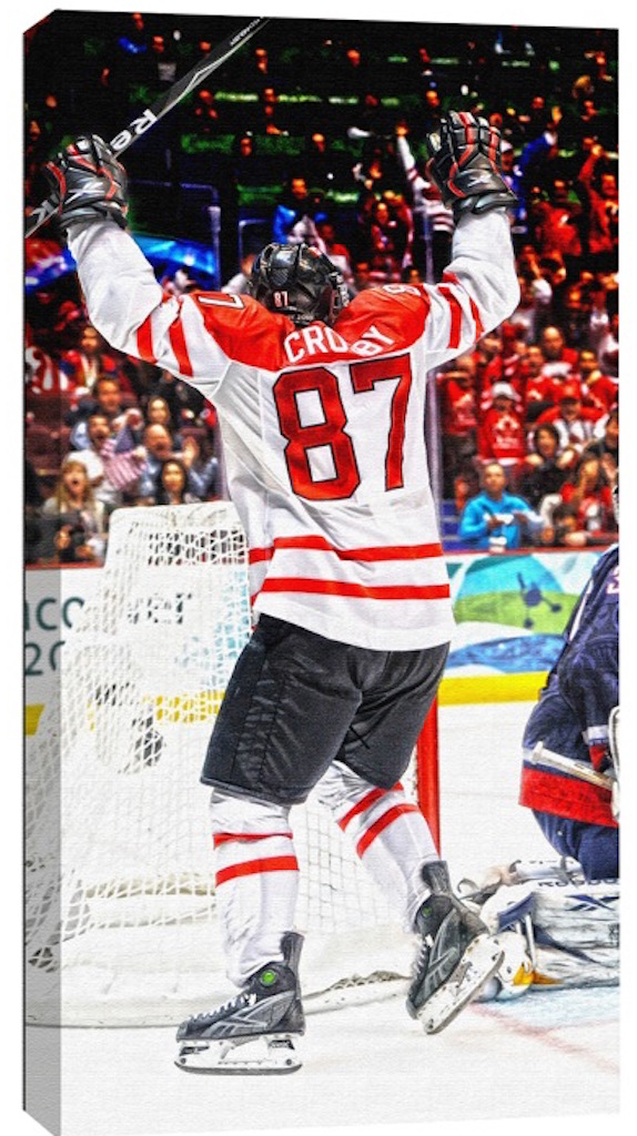 Sidney Crosby Team Canada Canvas
