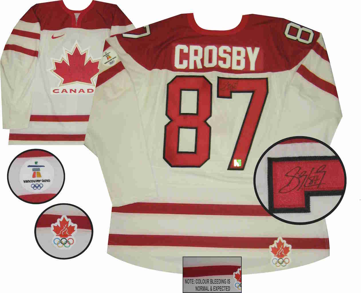Sidney Crosby Team Canada White Jersey SIGNED