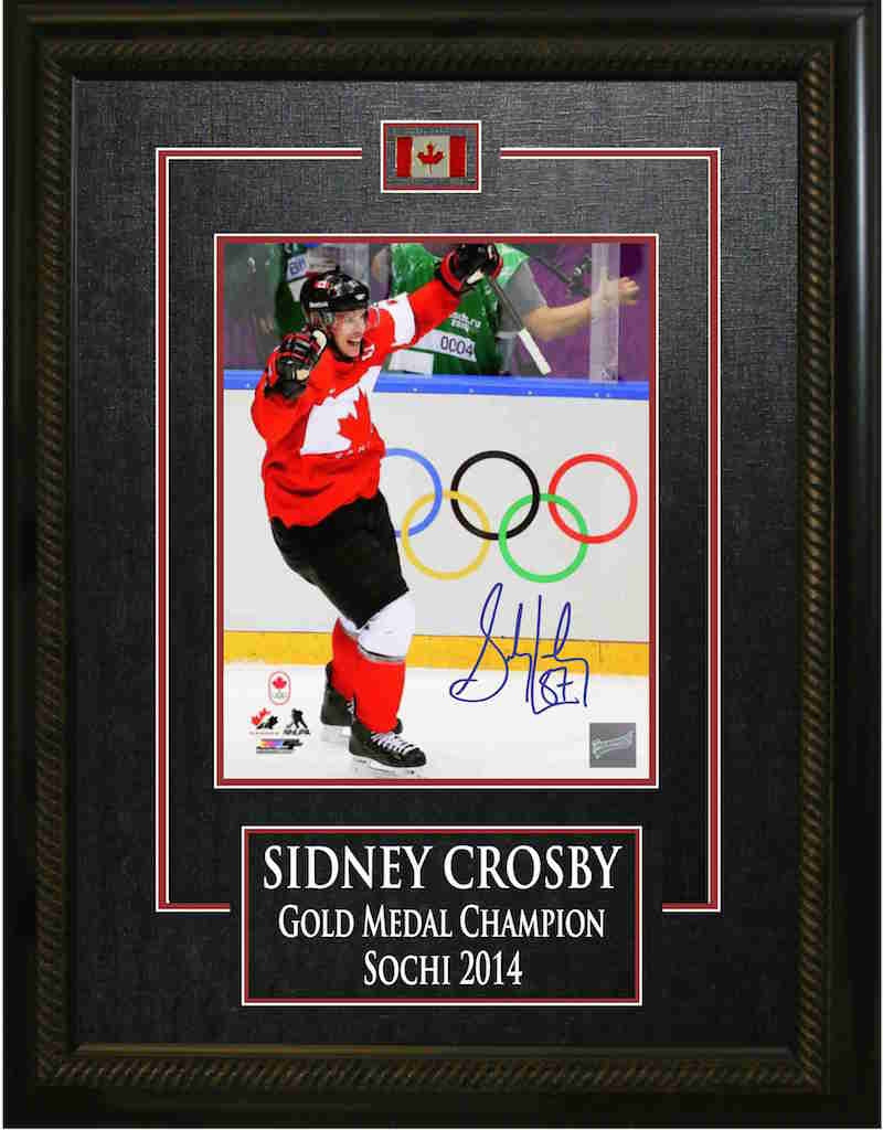 Sidney Crosby Olympics signed framed print