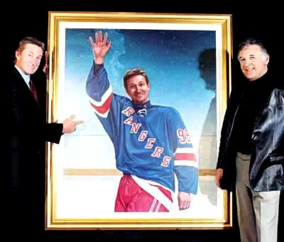 Wayne Gretzky and Ken Danby