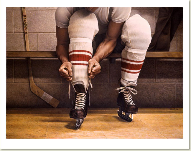 Ken Danby Lacing Up