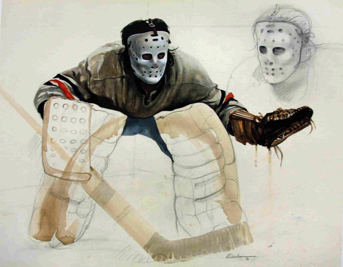 Ken Danby Study For At The Crease