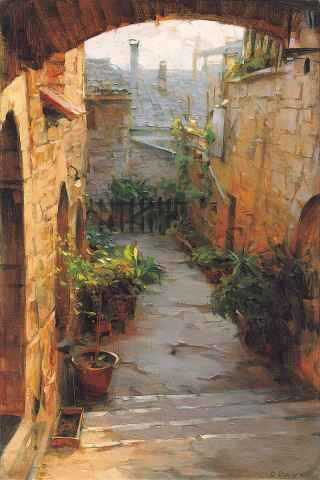 Dimitri Danish Assisi Courtyard