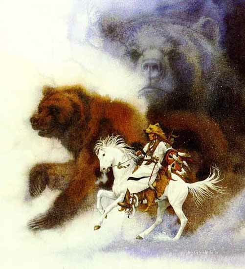 Bev Doolittle Two Bears of The Blackfeet