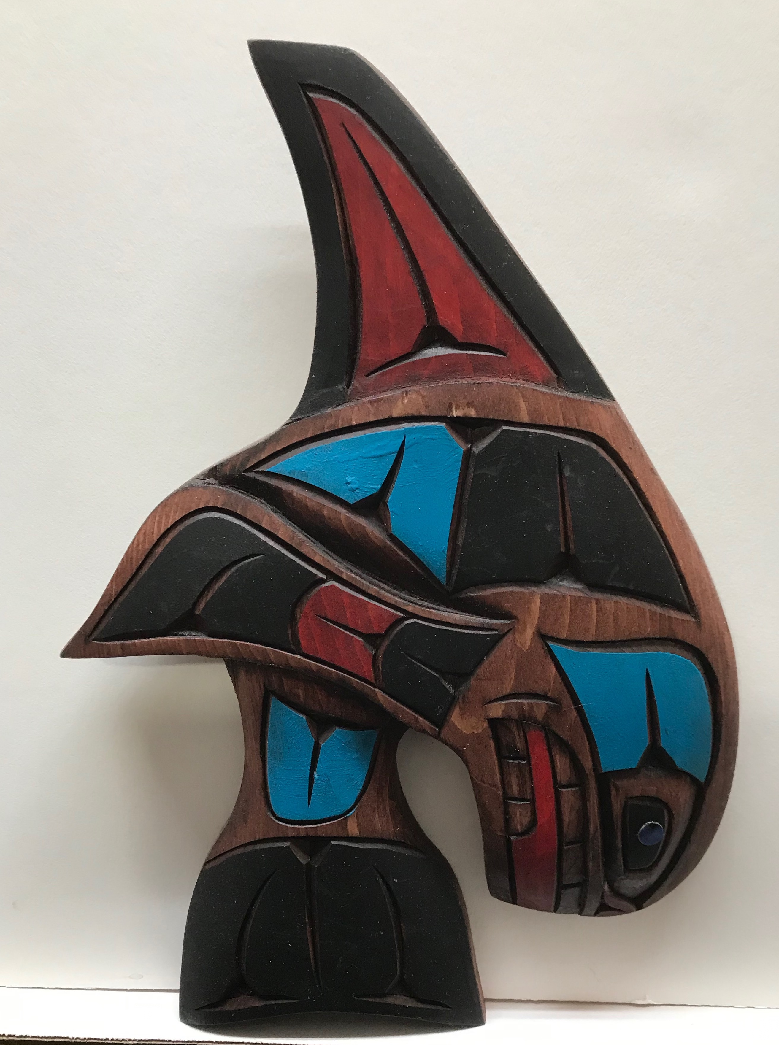 Dora Edwards Orca Whale Blue Red Left