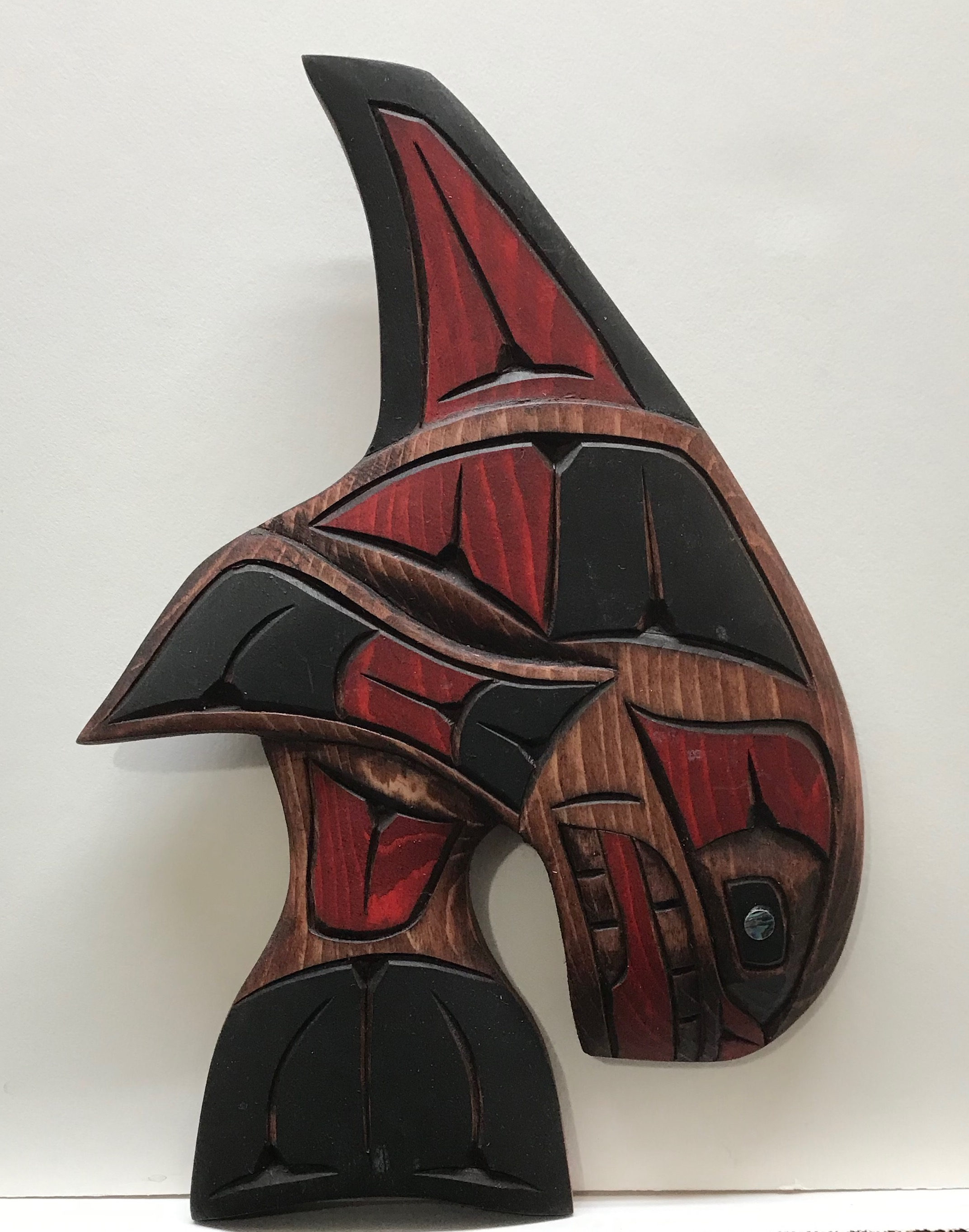 Dora Edwards Orca Whale Red Left