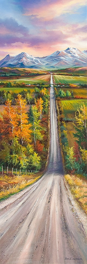 Jonn Einerssen Sunday Drive Giclee on Canvas