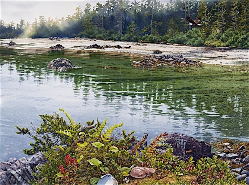 Carol Evans Banks Island Giclee on paper and canvas