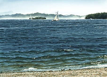 Carol Evans Sailboats Off Beddis Beach