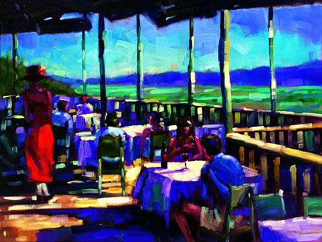 Michael Flohr L'Auberge View Of The Vineyard