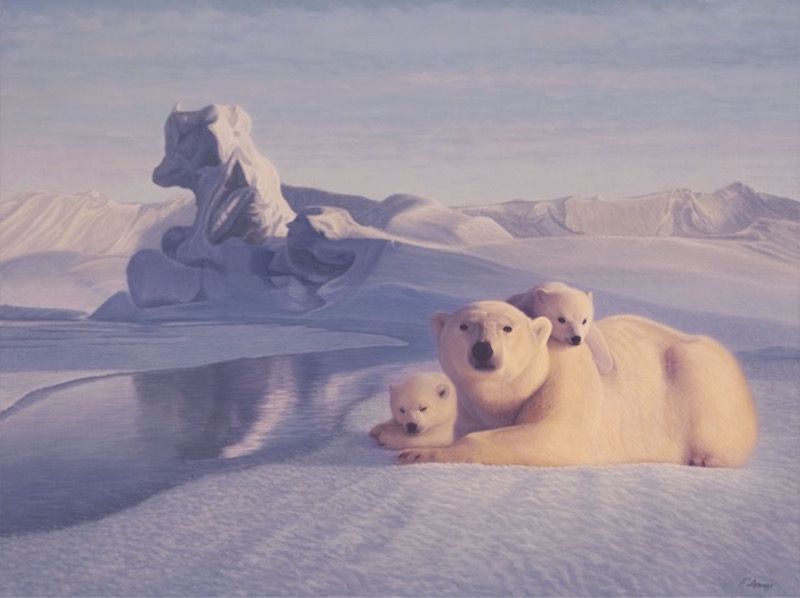 Lorenzo Fracchetti At water's Edge Polar bears