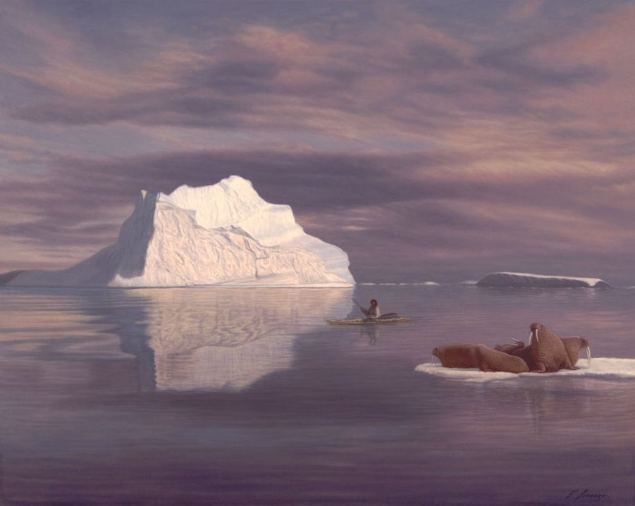 Lorenzo Fracchetti Kingdom of the Ice Walrus Eskimo Kayak