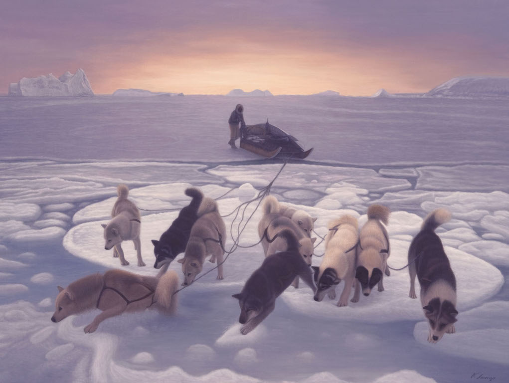 Lorenzo Fracchetti Sled Dogs on Thin Ice