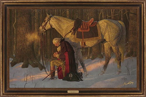 Arnold Friberg Prayer At Valley Forge