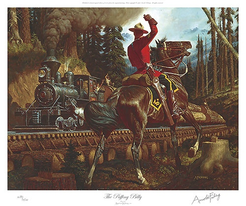 Arnold Friberg puffing Billy