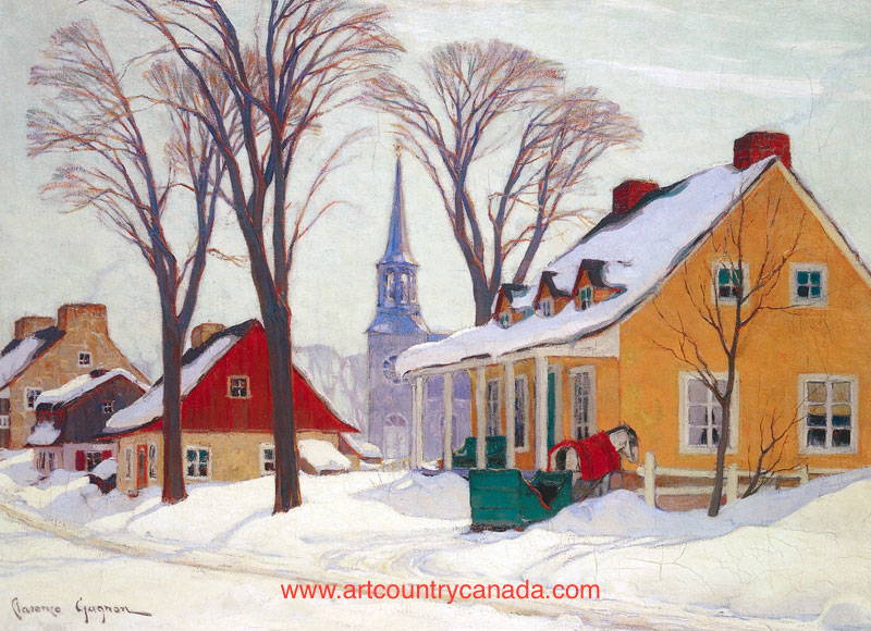 Clarence Gagnon Winter IN Baie St- Paul
