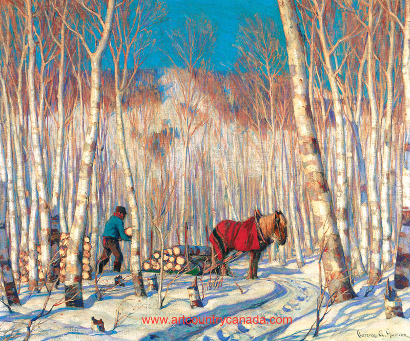 Clarence gagnon March in the Birch Woods