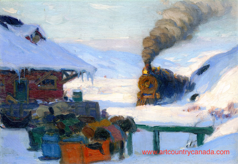 Clarence Gagnon The Train