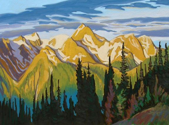 Paul Gauthier Golden peaks Banff park