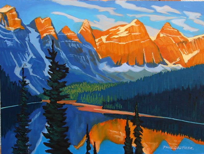 Paul gauthier Maligne Lake Sunrise