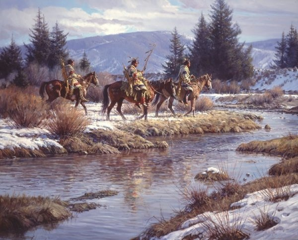 Martin Grelle Blackfeet At Blacktail Ponds