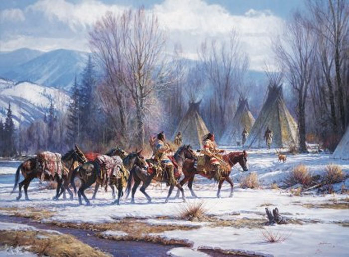 Martin Grelle Camp meat and Mules