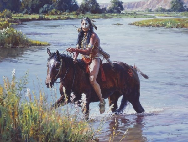 Martin Grelle crossing The Greasy Grass