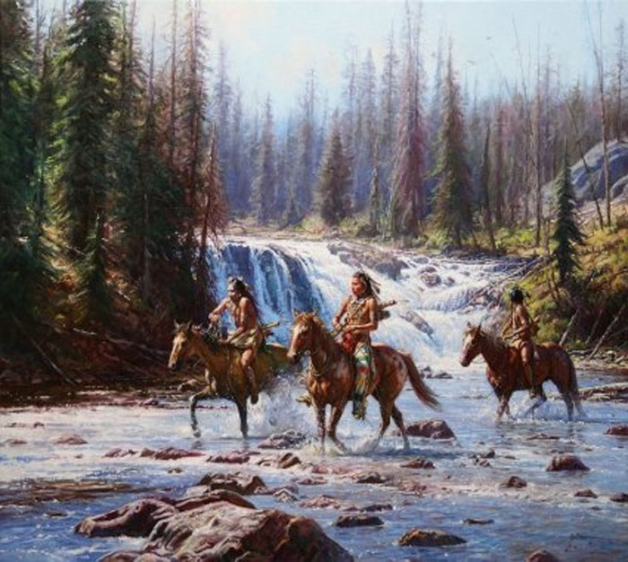 Martin Grelle Crows In The Yellowstone