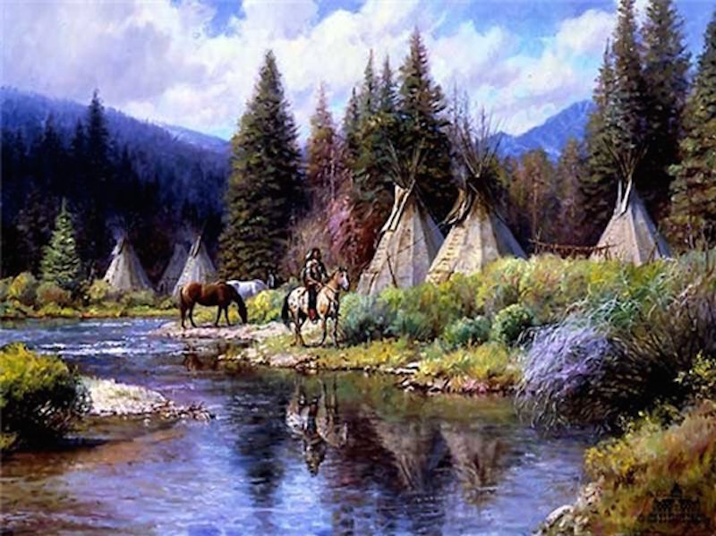 Martin Grelle A Camp Along The River