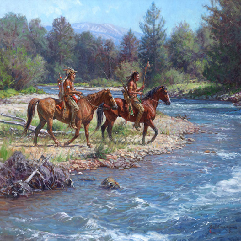 Martin Grelle Wolves on Rock Creek