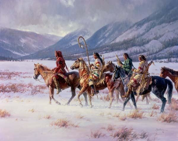 Martin Grelle Winter On THe Apsaroke