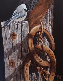 Darren Haley Chickadee and horseshoes
