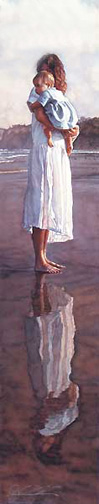 Steve Hanks In Mothers Arms