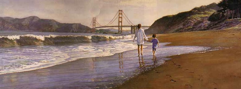 Steve Hanks Morning At Bakers Beach