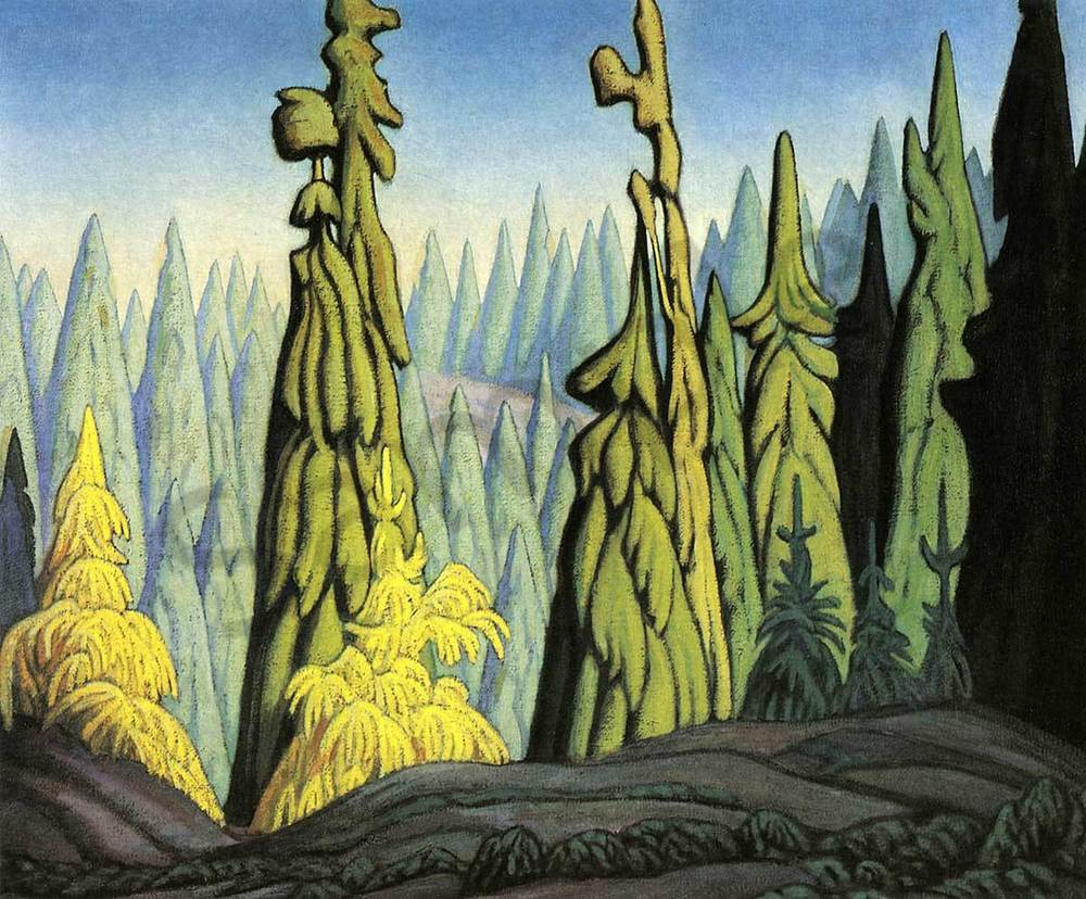 Lawren harris Trees in the North