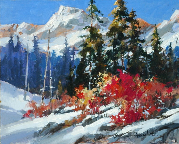Brent Heighton Early Snow Original Acrylic on Canvas painting