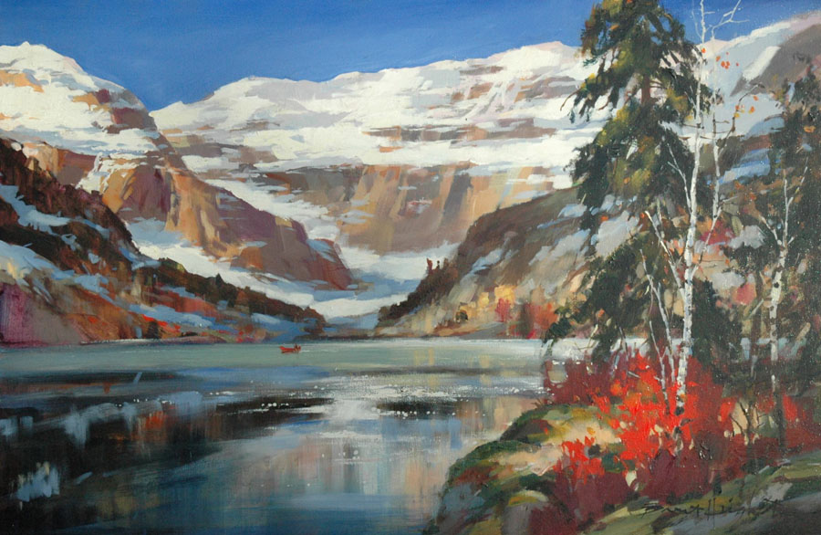 Brent Heighton Fall Colors in Lake LouisekV