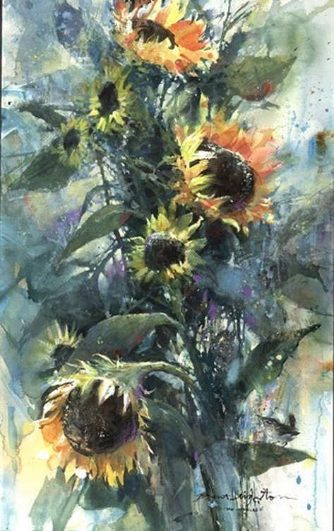 Brent Heighton Two Worlds Sunflowers