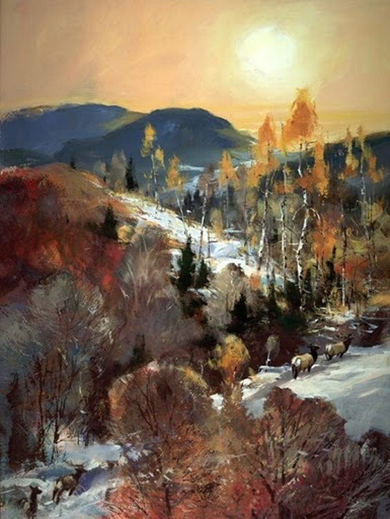 Brent Heighton Elk Trail Giclee Canvas