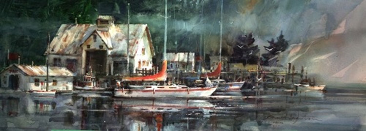 Brent Heighton Marina Giclee Canvas