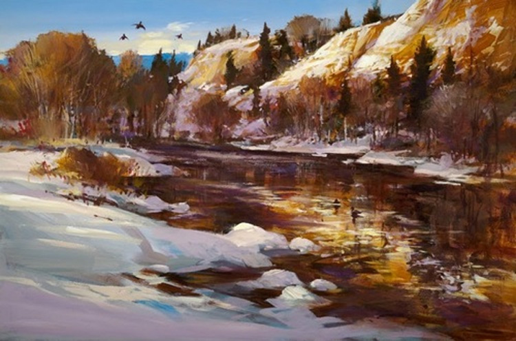 Brent Heighton Ochre Cliffs Giclee on Canvas
