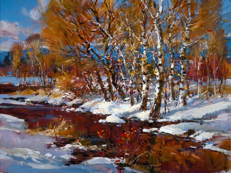 Brent Heighton Winter Retreat Giclee on Canvas