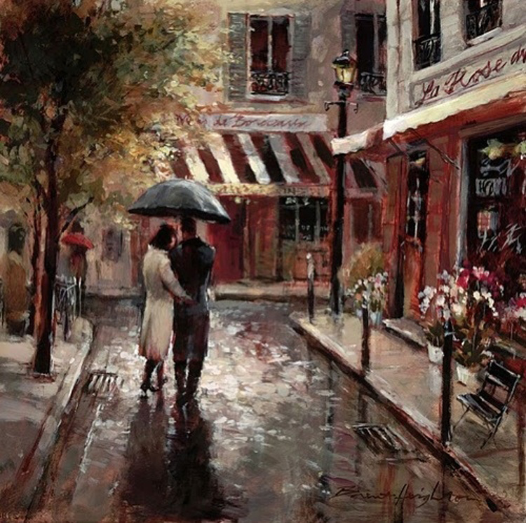 Brent Heighton Lovers Giclee Canvas