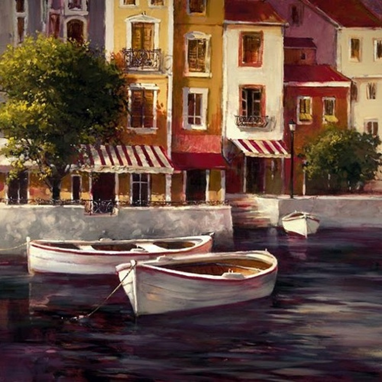 Brent Heighton Seaside Bistro Giclee canvas