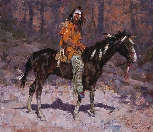 Terpning - Blackfeet Among the Aspen